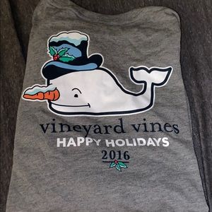 Vineyard Vines Holiday Tshirt snowman